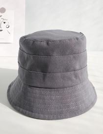 Fashion Three Bucket Hat Gray Fisherman's Hat
