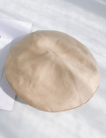 Fashion Four Pieces Of Mosaic Beige Light Board Stitching Wavy Beret