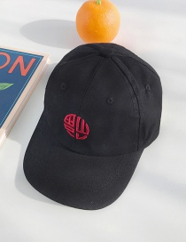 Fashion Blessing Word Black Embroidered Children's Baseball Cap