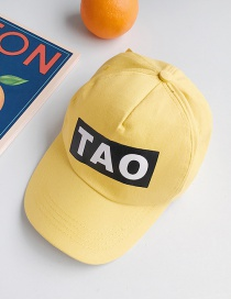 Fashion Tao Yellow Letter Print Children's Baseball Cap