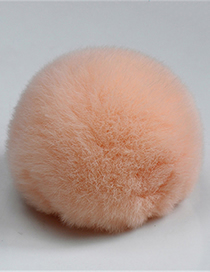 Fashion Han Pink 8cm Rabbit Fur Ball Keychain