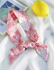 Fashion Silk White Red Cashew Double-sided Printing Strips 90cm