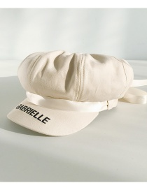 Fashion Bow Ribbon: Beige Ribbon Bow Embroidered Cap