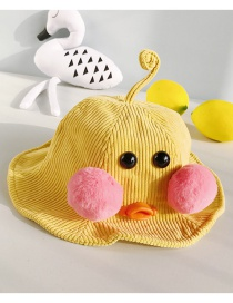 Fashion Antenna Duckling Yellow Cartoon Ducklings: Corduroy Ball: Child Fisherman Hat