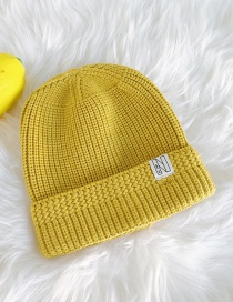 Fashion N-word Patch Turmeric Knitted Cap
