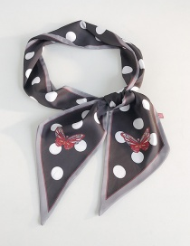 Fashion Butterfly Big Dot Black Background Printed Butterfly Scarf