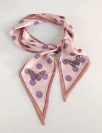 Fashion Butterfly Big Dot Foundation Purple Dot Printed Butterfly Scarf