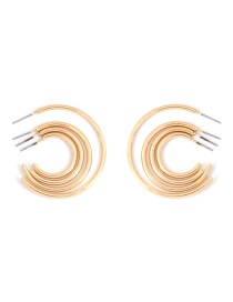 Fashion Gold Stainless Steel Geometric Earrings