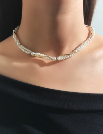 Fashion Gold Pearl Alloy Necklace