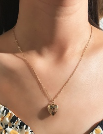 Fashion Gold Metal Love Opens The Box Necklace