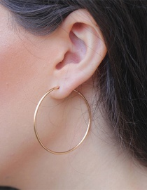 Fashion Gold Stainless Steel Circle Earrings