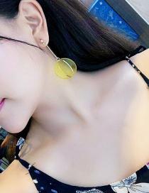 Fashion Yellow Geometric Ring Irregular Transparent Stud Earrings