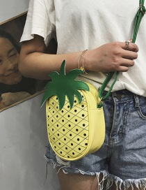 Fashion Pineapple Yellow Fruit Children's Messenger Bag