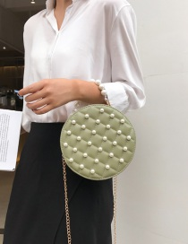 Fashion Green Chain Pearl Handbag Shoulder Messenger Bag