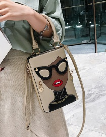 Fashion Gold Beauty Print Shoulder Bag Shoulder Bag