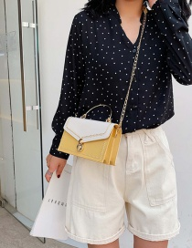 Fashion Yellow Diagonal Shoulder Chain Tote