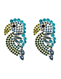Fashion Blue Acrylic Diamond Stud Earrings