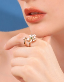 Fashion Flower Ring Diamond Flower Ring