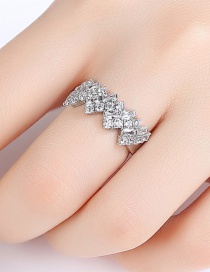 Fashion Platinum Open Ring