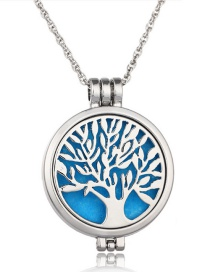 Fashion White K Life Tree Opens Luminous Aroma Necklace