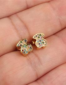 Fashion Gold Bear Cub Stud Earrings