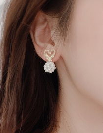 Fashion Picture Imitation Pearl Love Earrings