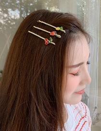 Fashion Cherry Fruit Hair Clip