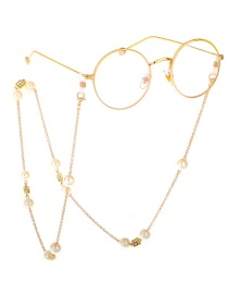 Fashion Gold Pearl Metal Glasses Chain