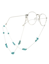 Fashion Silver Chain Natural Turquoise Beads Chain