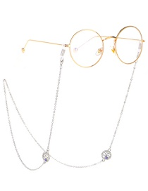 Fashion Silver Rhinestone Life Tree Eye Chain Metal Glasses Chain