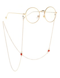 Fashion Gold Non-slip Metal Rhinestone Glasses Chain