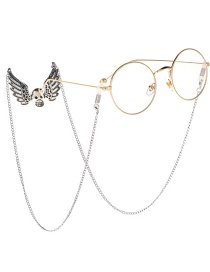 Fashion Silver Non-slip Angel Skull Hanging Neck Glasses Chain