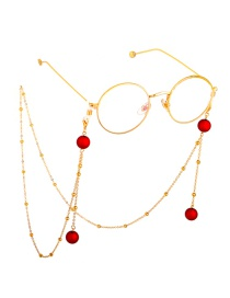 Fashion Gold Frosted Beads Chain