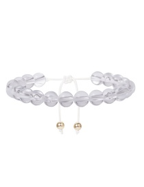 Fashion White Beaded Wax Line Acrylic Bead Geometry Bracelet