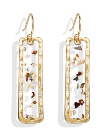 Fashion Gold Epoxy Sequin Earrings