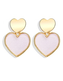 Fashion Pink Heart Love Sequin Earrings