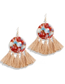 Fashion Red Acrylic Tassel Earrings