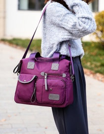 Fashion Purple Nylon Shoulder Tote