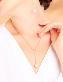 Fashion Pearl Pendant Necklace Irregular Geometric Pearl Necklace