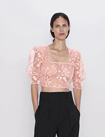Fashion Pink Embroidery Online Clothing