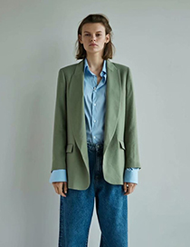 Fashion Green Pocket Suit