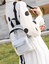 Fashion White Pvc Waterproof Transparent Backpack