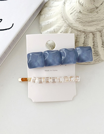 Fashion Gray Blue Water Ripple Crystal Hairpin Combination