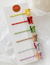 Fashion Colorful System / 6 Little Dinosaur Clip