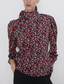 Fashion Color Flower Print Top