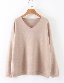 Fashion Khaki Pullover Top