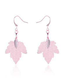 Fashion Pink Maple Earrings