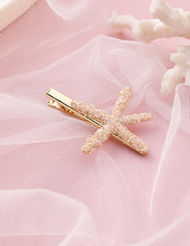 Fashion Beige Sea Star Hairpin