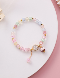 Fashion Color Kitten Burst Flower Crystal Bracelet Female