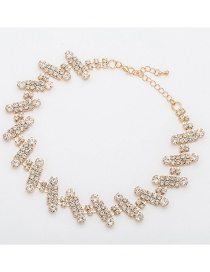 Fashion Gold Diamond Necklace